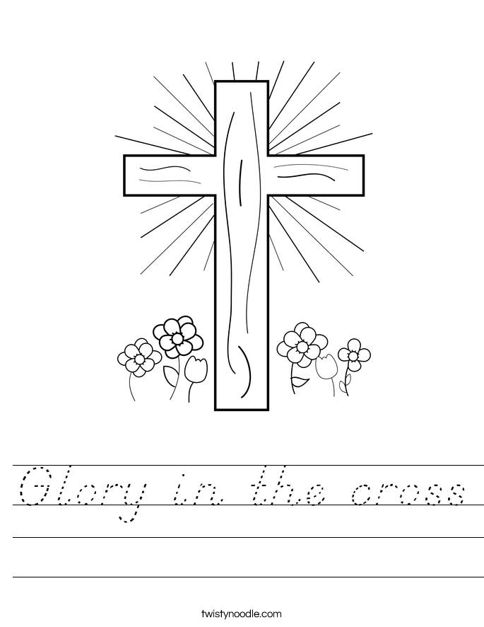 Glory in the cross Worksheet