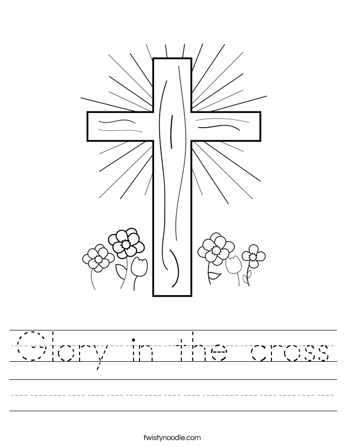 Glory in the cross Worksheet