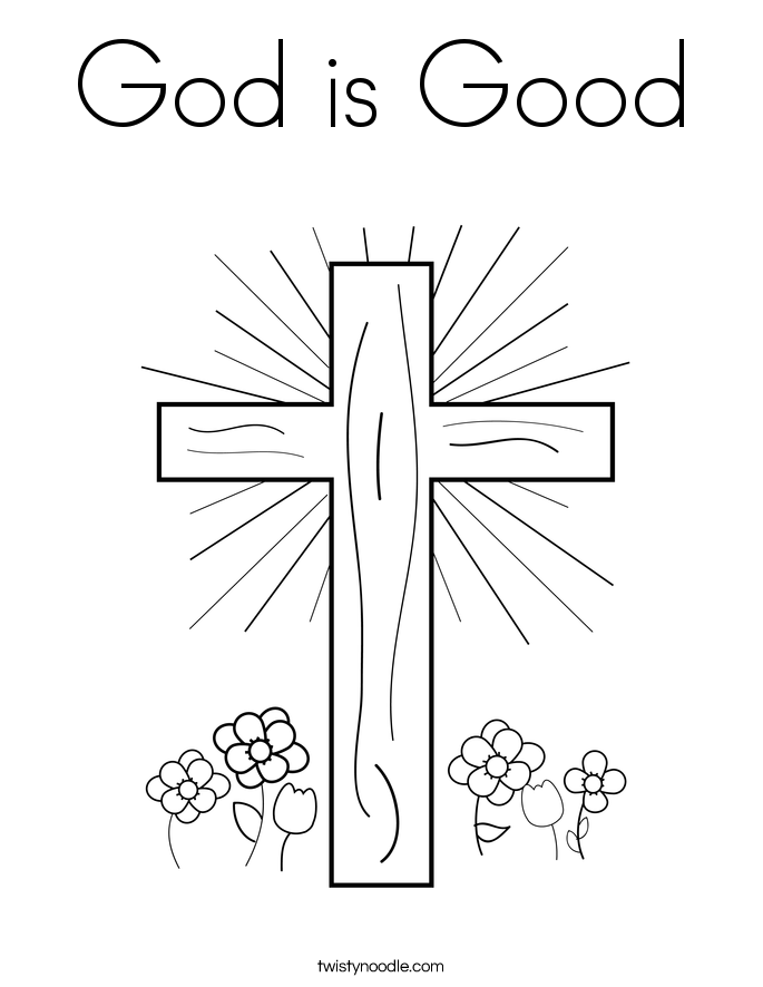God is Good Coloring Page