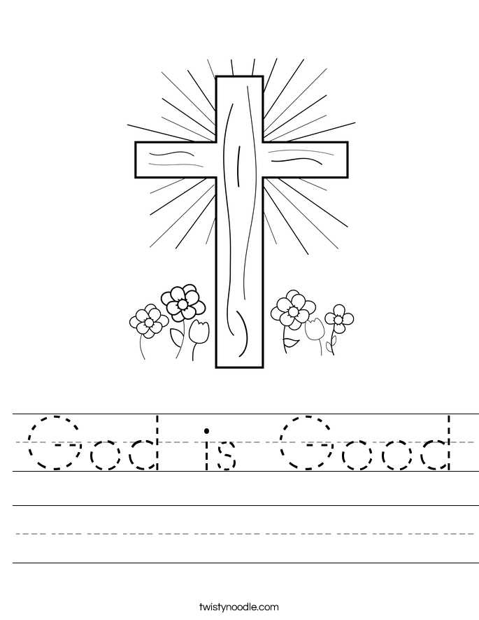 God is Good Worksheet