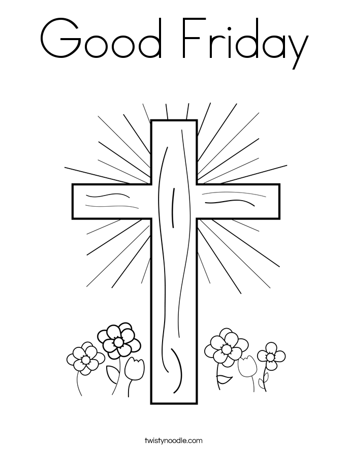 Good Friday Coloring Page Twisty