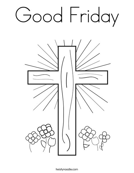 good friday coloring pages Good Friday Coloring Page   Twisty Noodle good friday coloring pages
