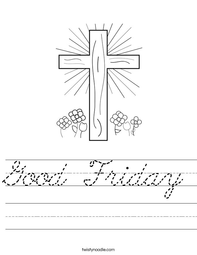 Good Friday Worksheet