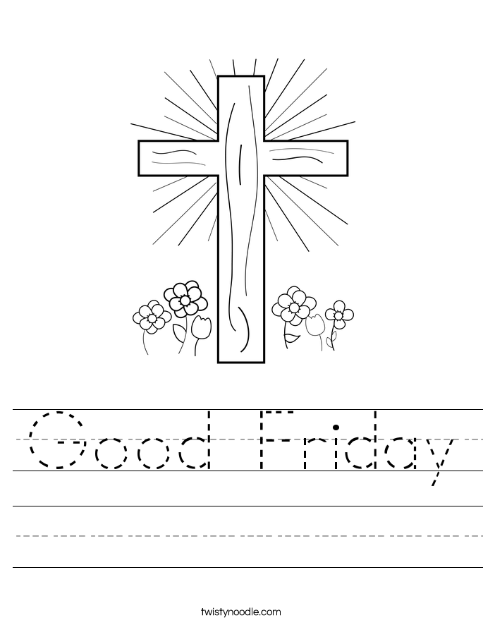 Good Friday Worksheet Twisty
