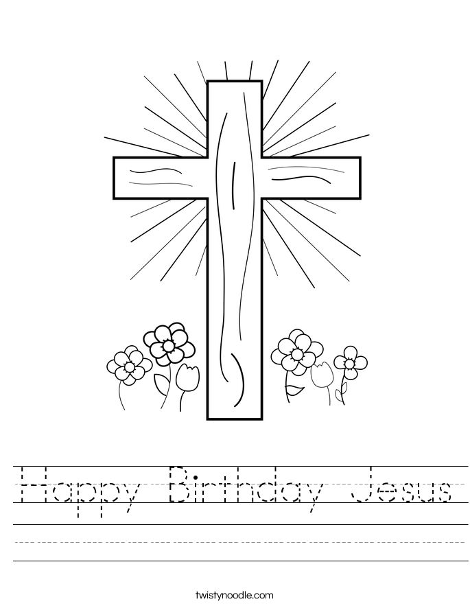 Happy Birthday Jesus Worksheet