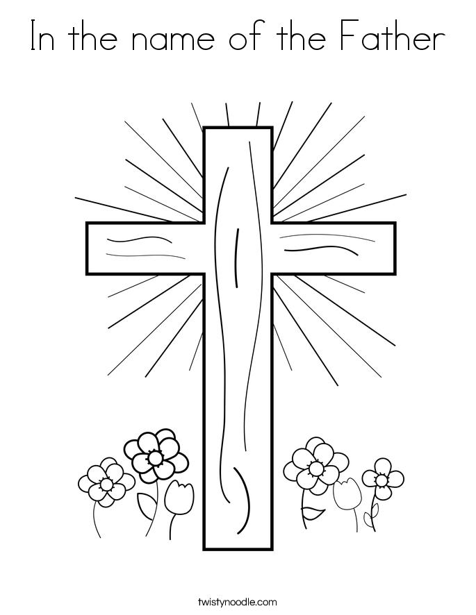 In the name of the Father Coloring Page