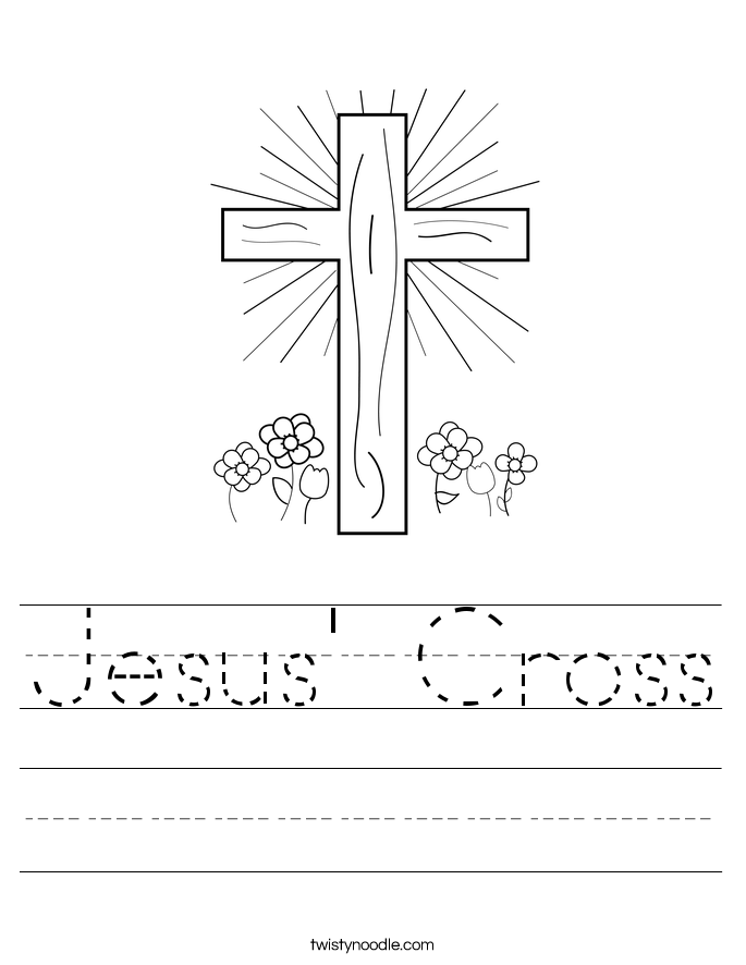 Jesus' Cross Worksheet