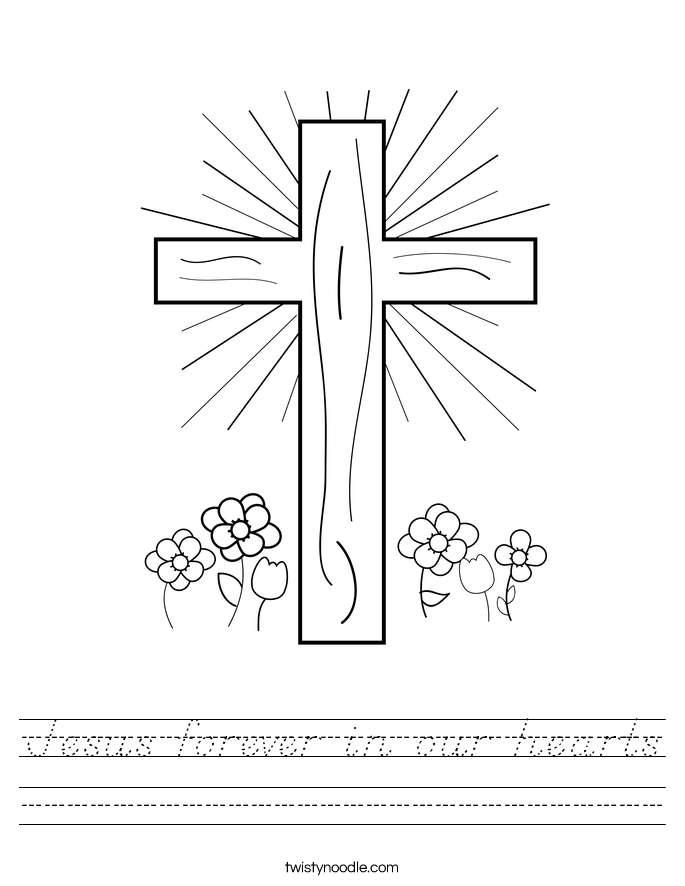 Jesus forever in our hearts Worksheet