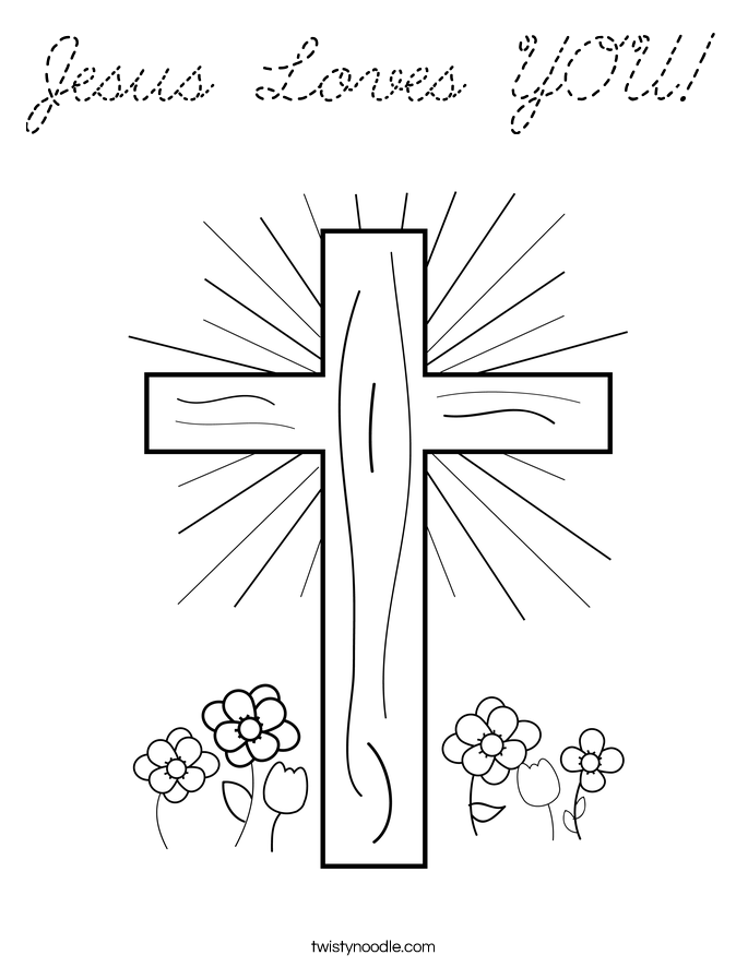 jesus loves you coloring pages - photo#28