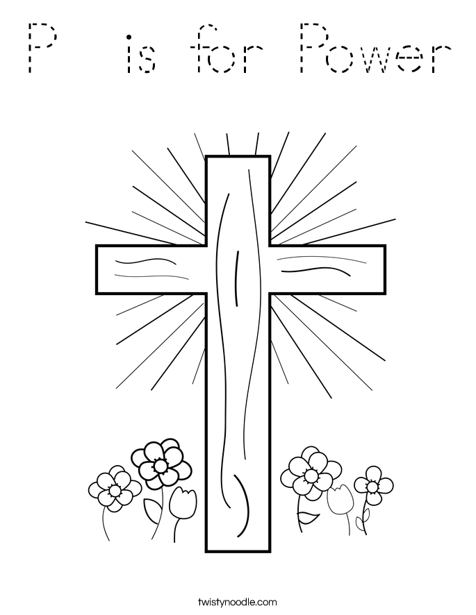 P  is for Power Coloring Page