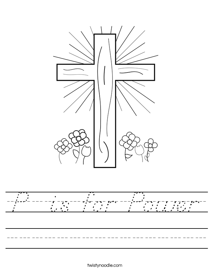 P  is for Power Worksheet