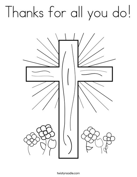 cross with flowers coloring page - All Coloring Pages