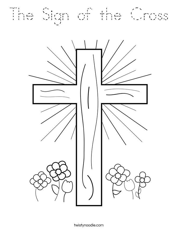 The Sign of the Cross Coloring Page