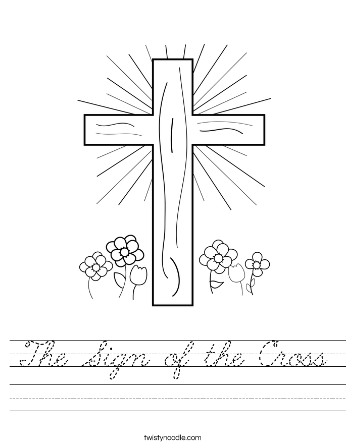 The Sign of the Cross Worksheet