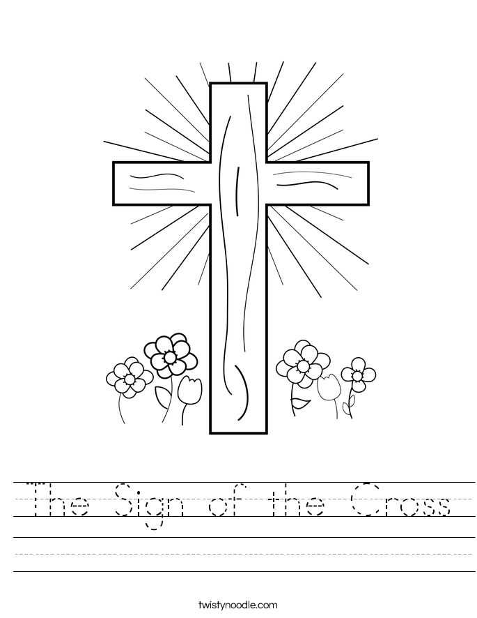 how to make a cross sign