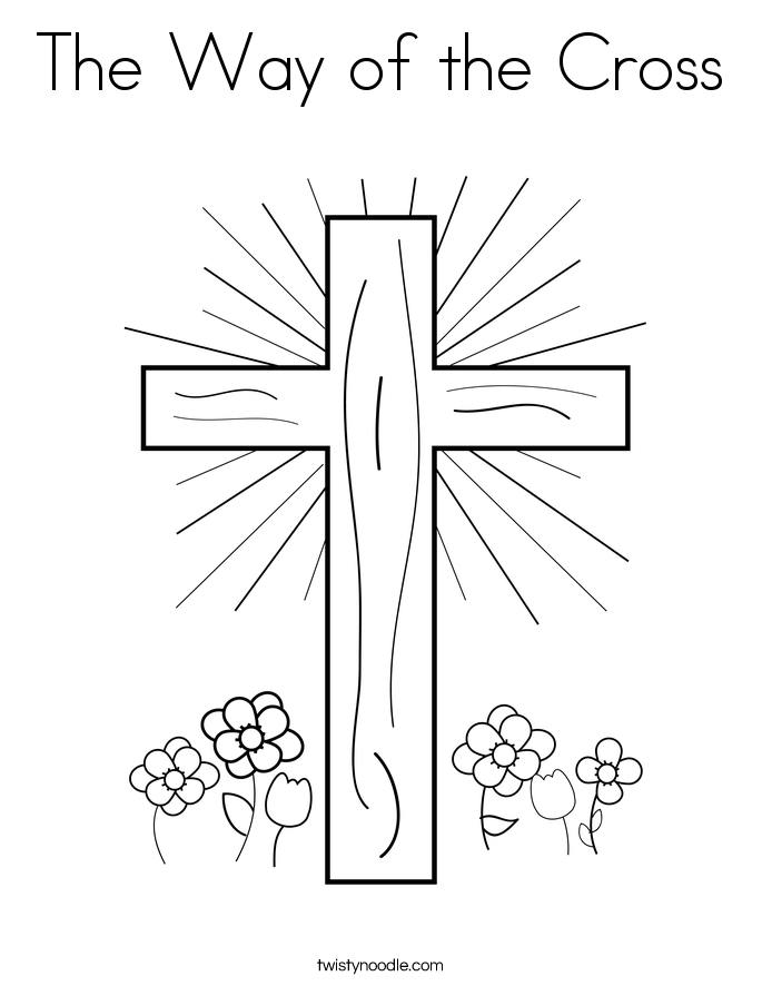 The Way of the Cross Coloring Page