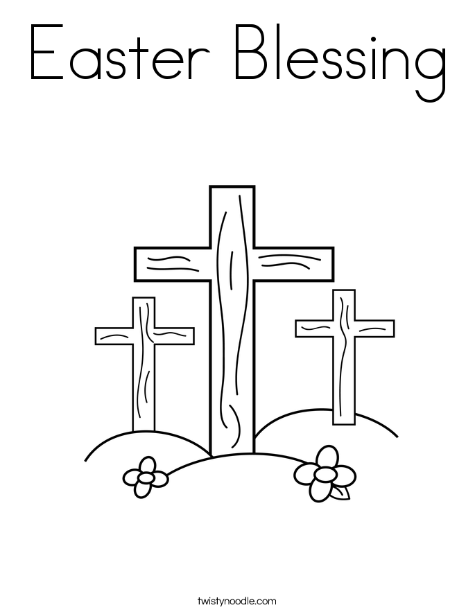 easter blessing coloring page