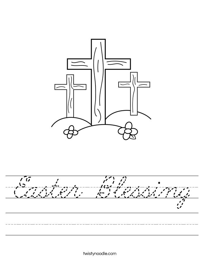 Easter Blessing Worksheet