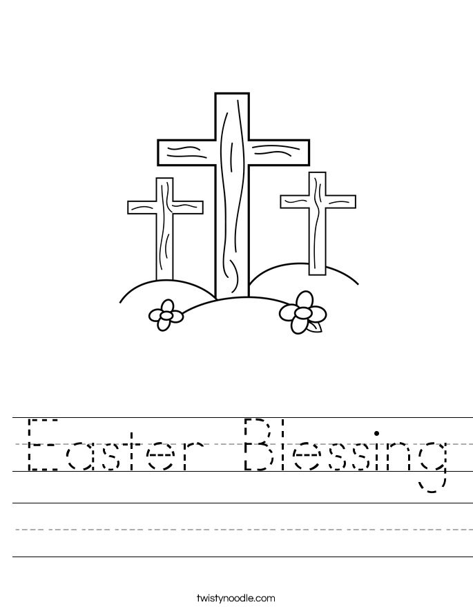 Easter Blessing Worksheet