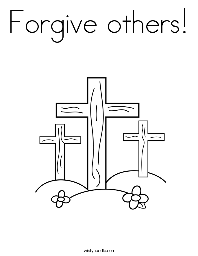 Forgive others! Coloring Page