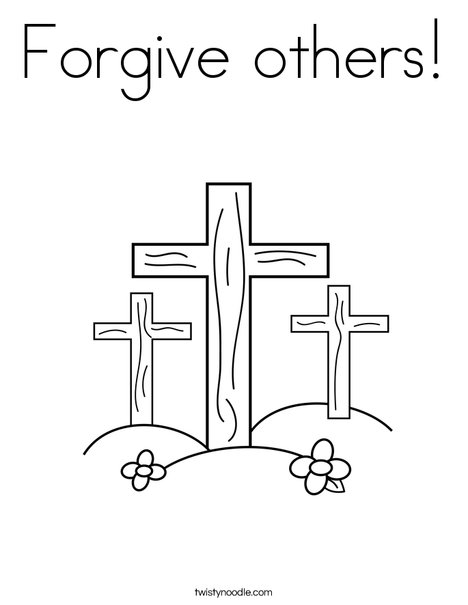 Forgive others Coloring Page - Twisty Noodle