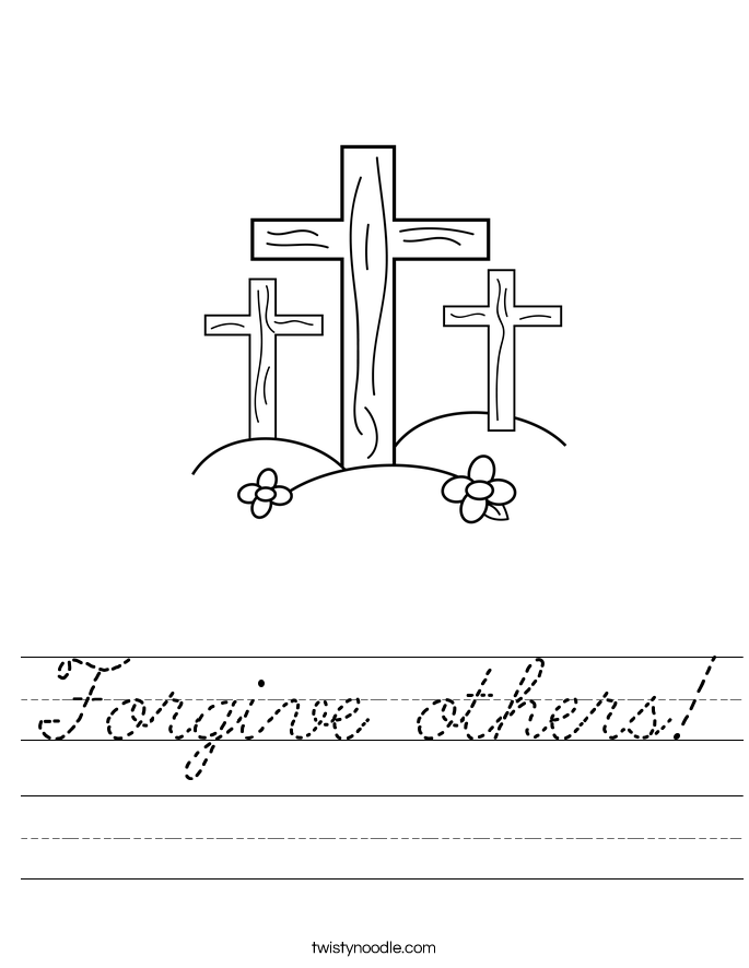 Forgive others! Worksheet