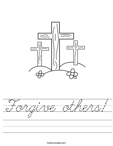 Crosses on a Hill Worksheet