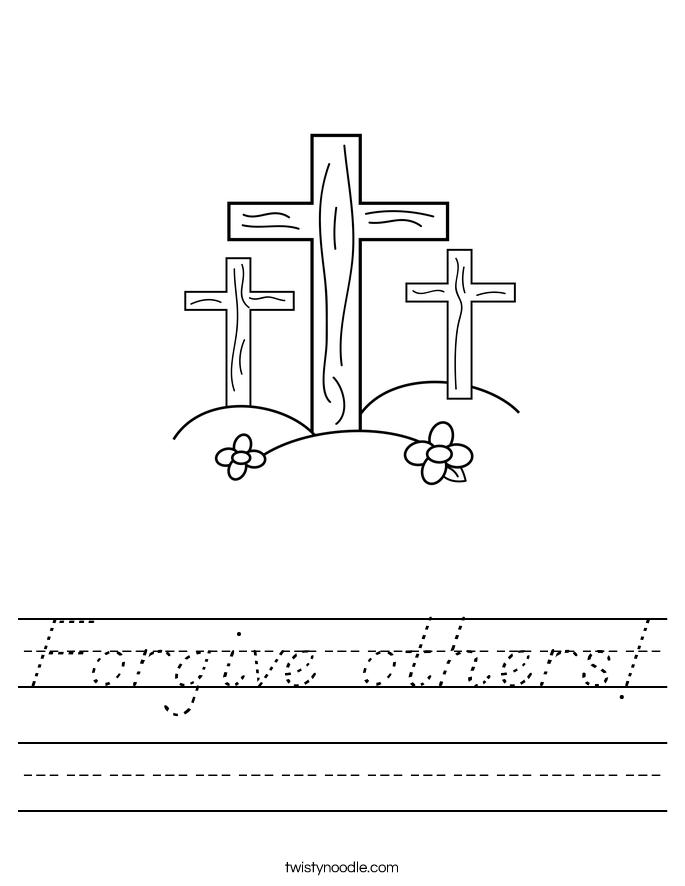 Forgive others! Worksheet