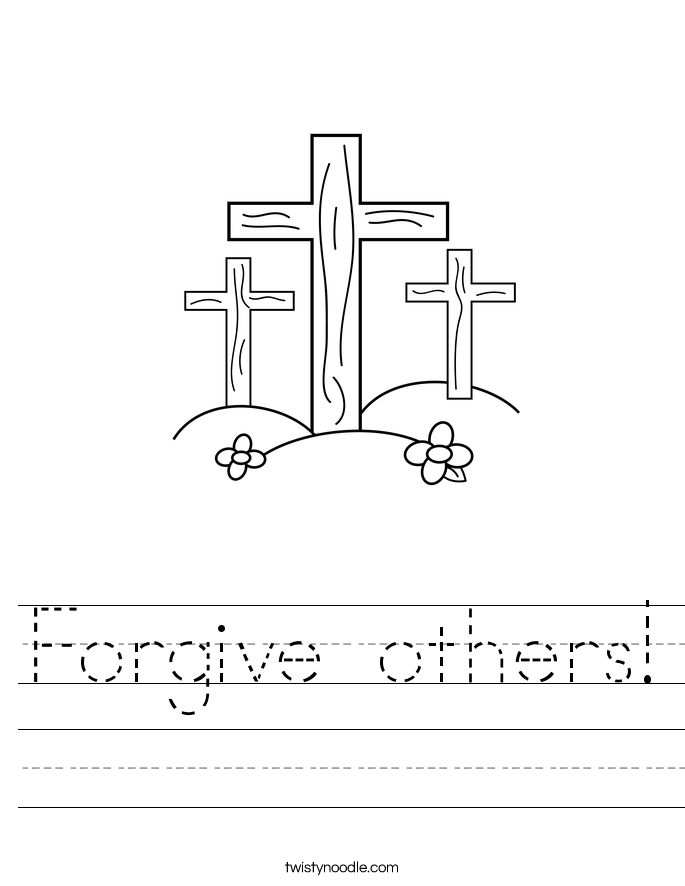 Forgive others Worksheet Twisty Noodle – Forgiveness Worksheets