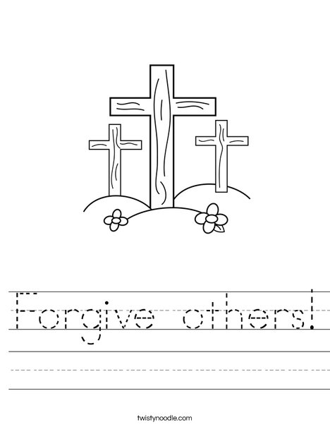 Printables Forgiveness Worksheets forgiveness worksheet syndeomedia forgive others twisty noodle