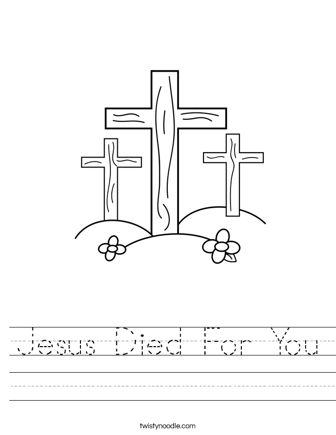 Jesus Died For You Worksheet