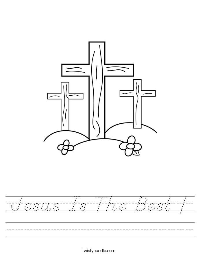 Jesus Is The Best ! Worksheet