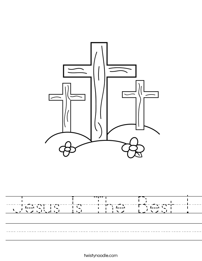 Jesus Is The Best ! Worksheet
