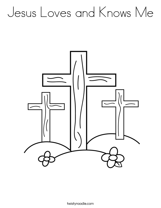 Jesus Loves And Knows Me Coloring Page