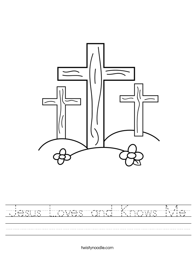 Jesus Loves and Knows Me Worksheet