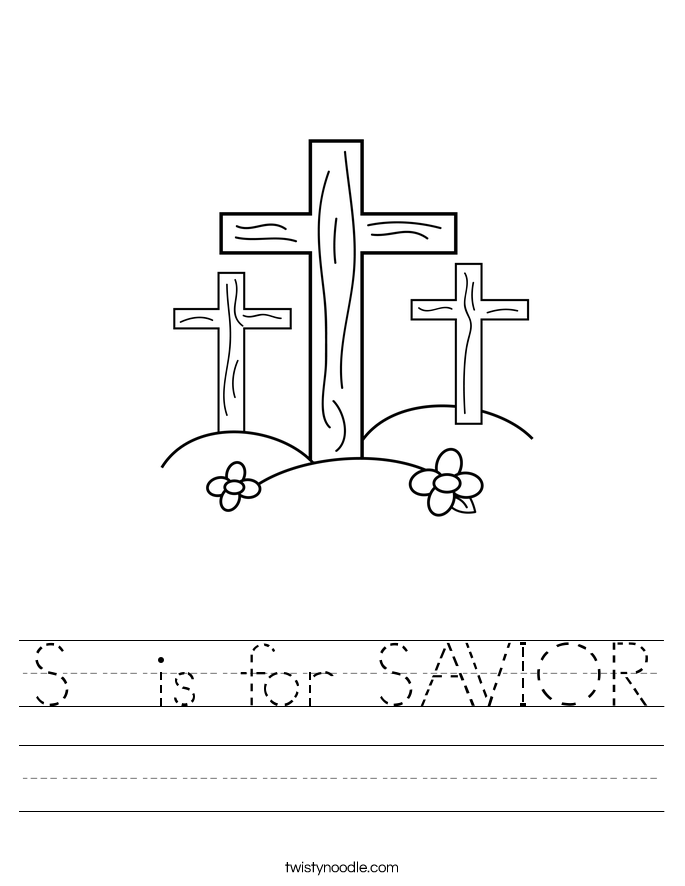 S  is for SAVIOR Worksheet