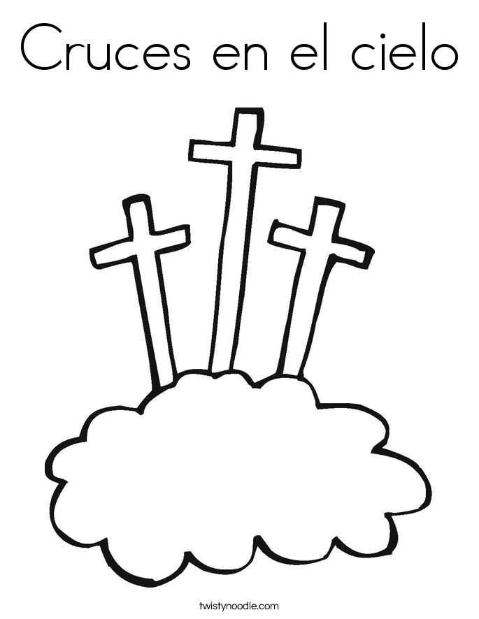 Cruces en el cielo Coloring Page