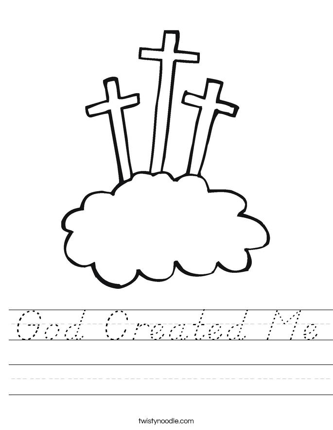 God Created Me Worksheet