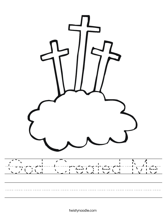 God Created Me Worksheet