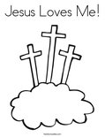 Jesus Loves Me!Coloring Page