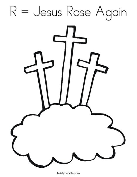 R Jesus Rose Again Coloring Page