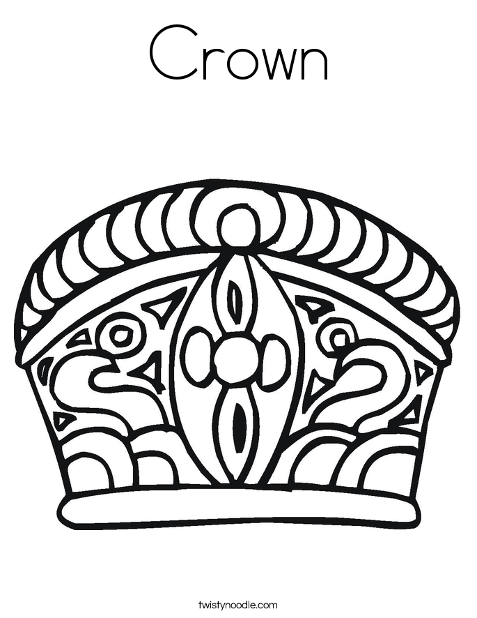 Simple King And Queen Crown Coloring Pages Coloring Pages