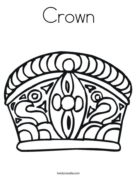 Crown Coloring Page Twisty Noodle