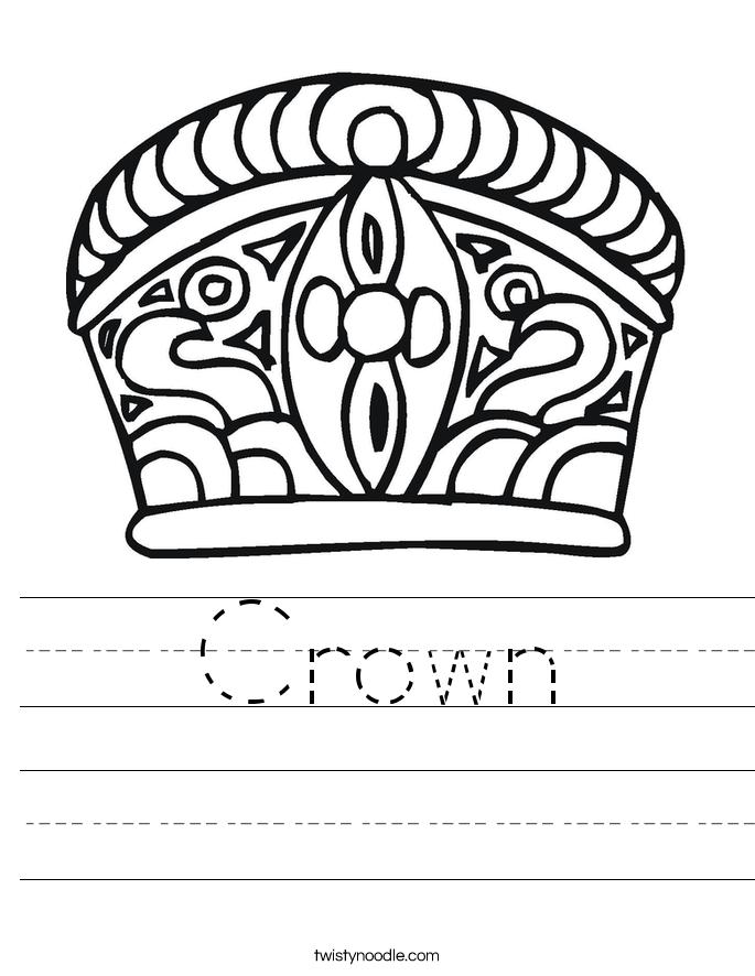 Crown Worksheet
