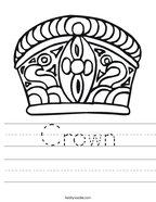 Crown Handwriting Sheet