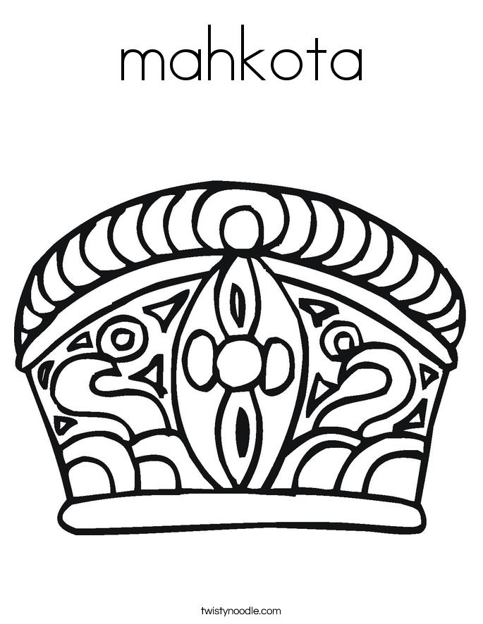mahkota Coloring Page