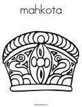 mahkotaColoring Page