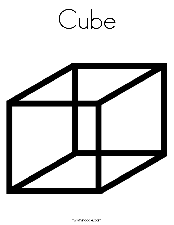 Cube Coloring Page