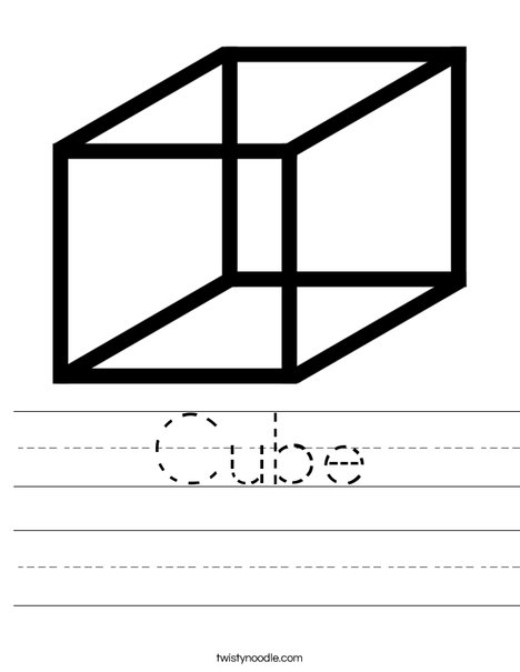 Cube Worksheet
