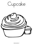 CupcakeColoring Page
